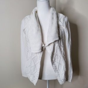 NWT CAbi white knit sweater- XS